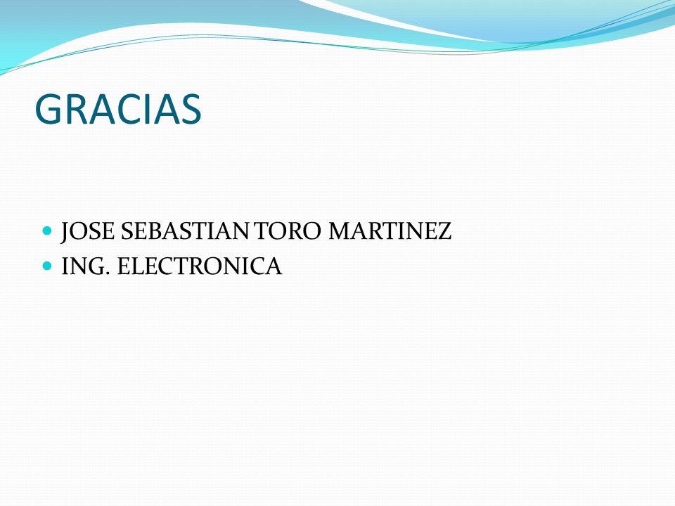 GRACIAS JOSE SEBASTIAN TORO MARTINEZ ING. ELECTRONICA