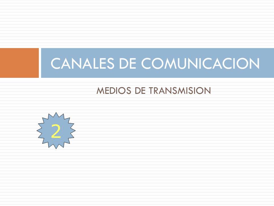 MEDIOS DE TRANSMISION CANALES DE COMUNICACION 2