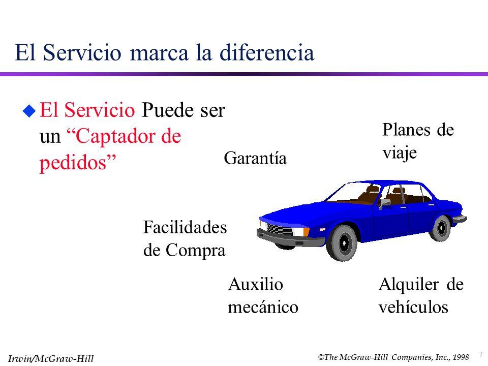 7 El Servicio marca la diferencia u El Servicio Puede ser un Captador de pedidos Garantía Auxilio mecánico Planes de viaje Alquiler de vehículos Facil
