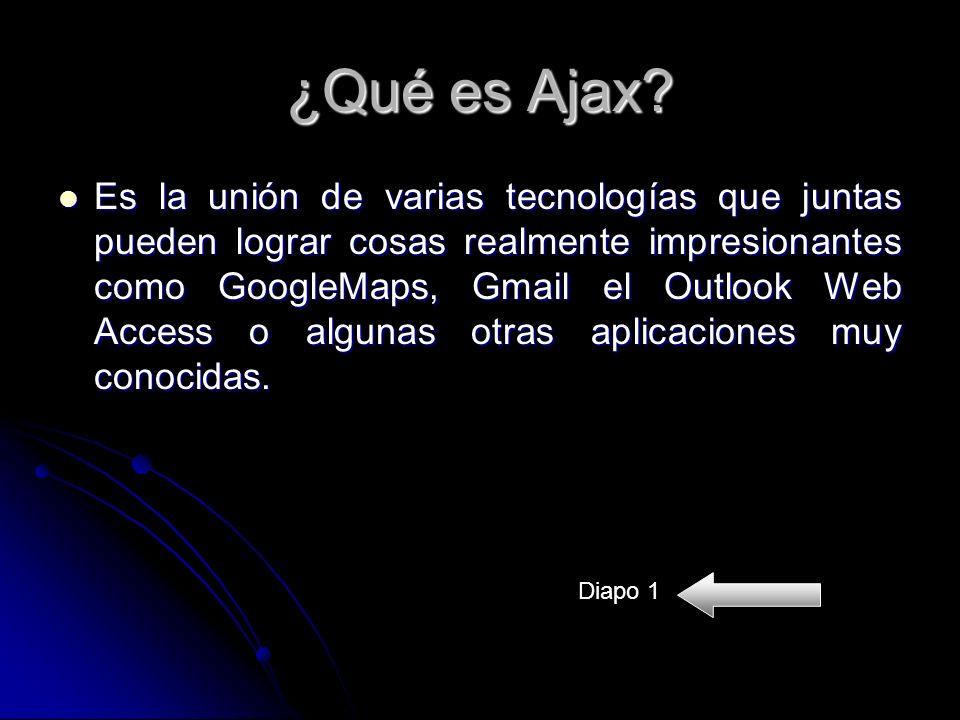 ¿Qué es Ajax.