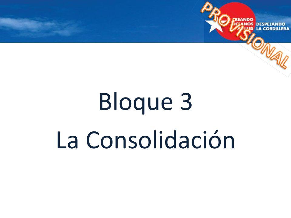 Bloque 3 La Consolidación
