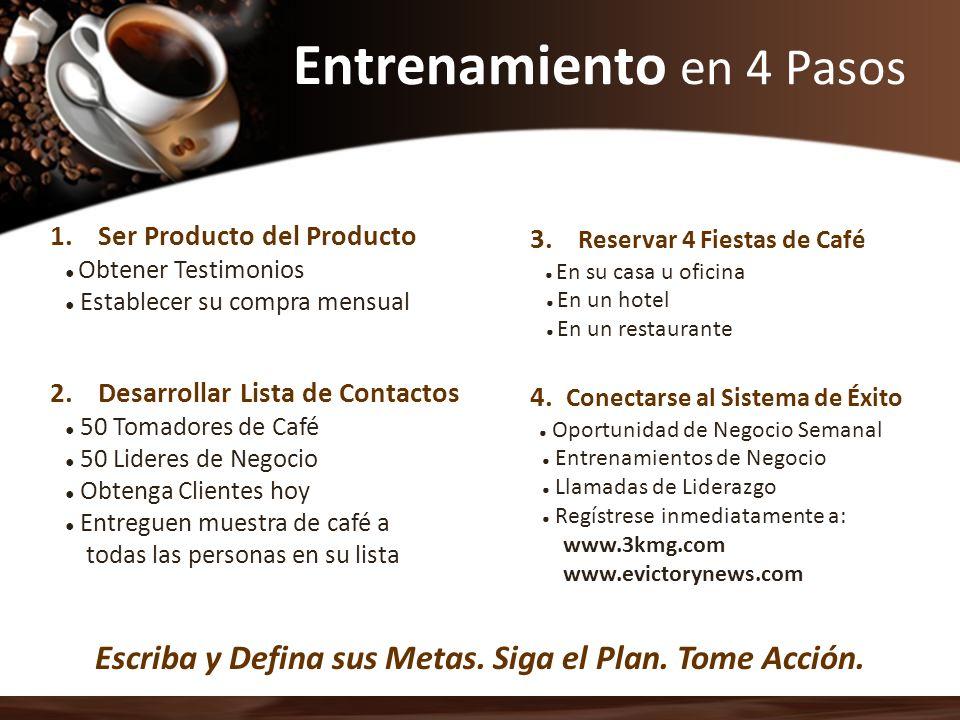 2.Desarrollar Lista de Contactos 50 Tomadores de Café 50 Lideres de Negocio Obtenga Clientes hoy Entreguen muestra de café a todas las personas en su