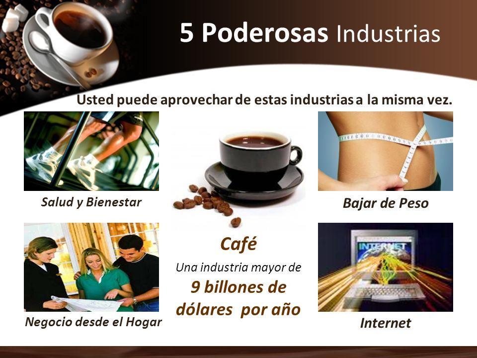 Salud y Bienestar Negocio desde el Hogar Bajar de Peso Internet Usted puede aprovechar de estas industrias a la misma vez. 5 Poderosas Industrias Café