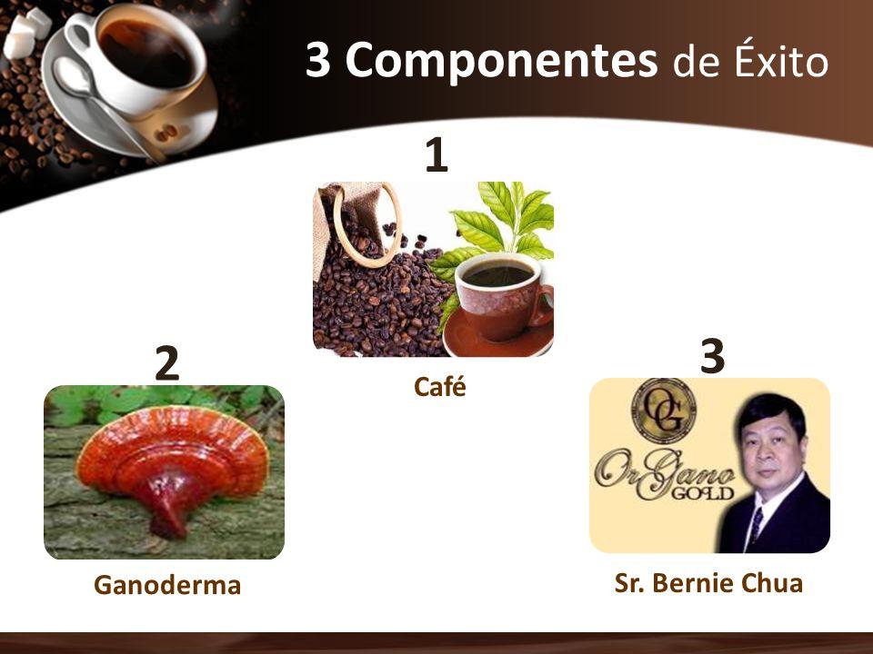3 Componentes de Éxito Ganoderma Sr. Bernie Chua Café 2 1 3