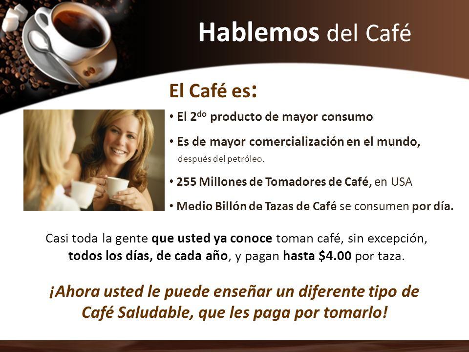 Hablemos del Café El 2 do producto de mayor consumo Es de mayor comercialización en el mundo, después del petróleo. 255 Millones de Tomadores de Café,
