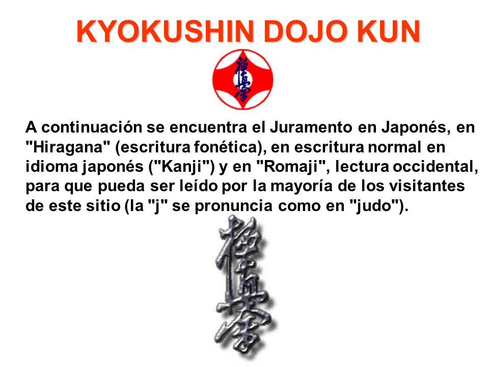 A continuación se encuentra el Juramento en Japonés, en