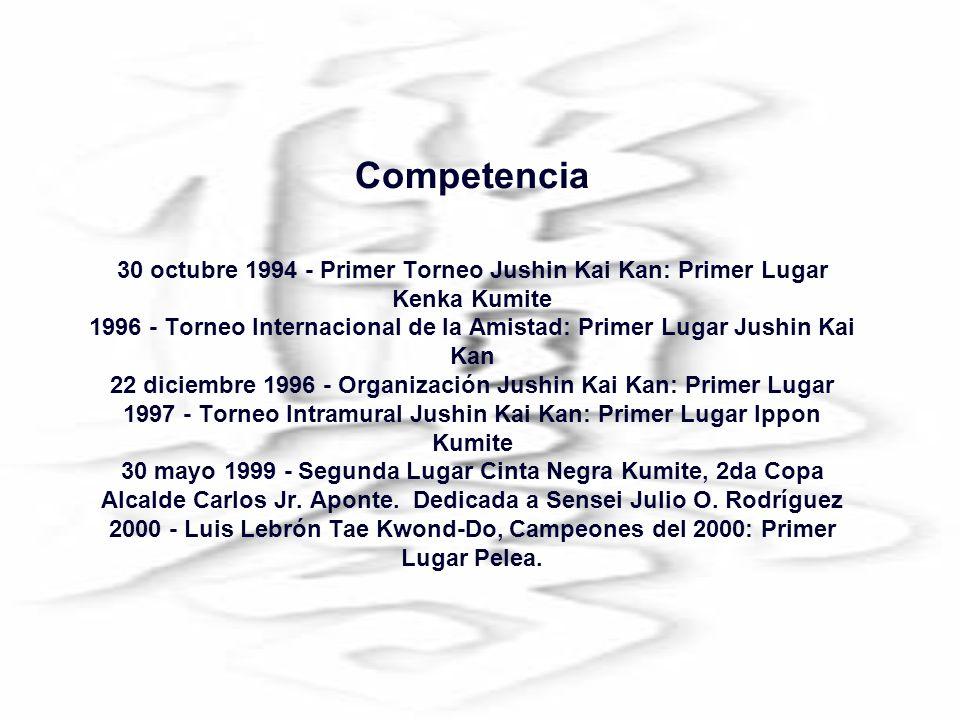 Julio O Rodríguez fue exaltado al Salón de la Fama de Kyokushin Puerto Rico por ser la primera persona con facultades especiales en llegar a Cinturón Negro Primer Dan.