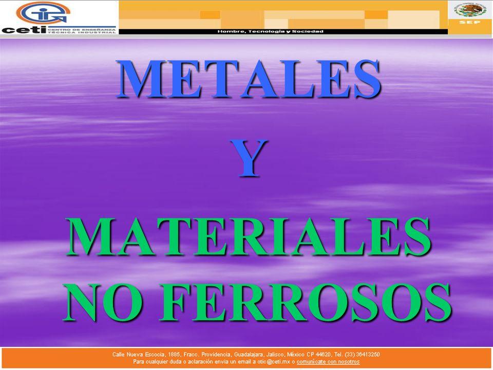 METALESY MATERIALES NO FERROSOS