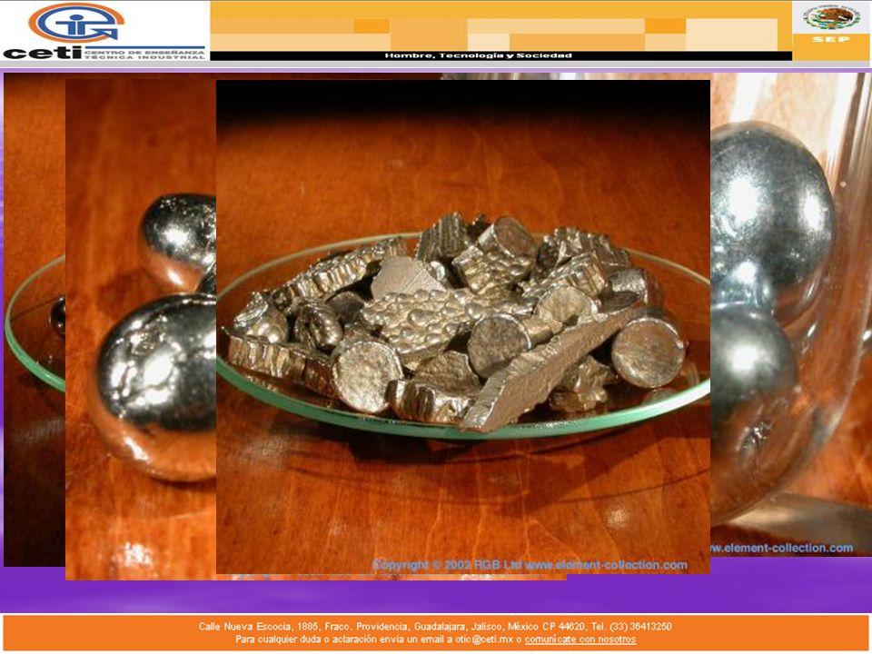 Segundos Metales de Transición I 1.Hierro: Ferrum, 4to en abundancia, ingrediente básico de todos los aceros. 2.Rutenio: Rutenia, duro y quebradizo en