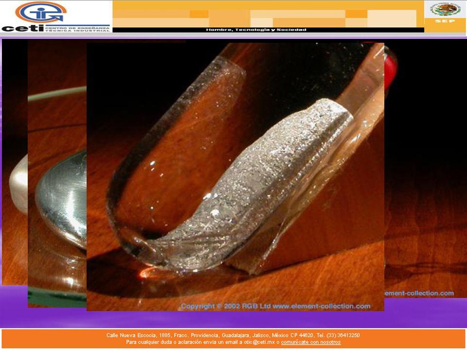 1.Aluminio: Alumen, metal más abundante. Tubos de pasta de dientes, alas de aviones. 2.Galio: Gallia, Metal que se funde en la mano. Registrar altas t