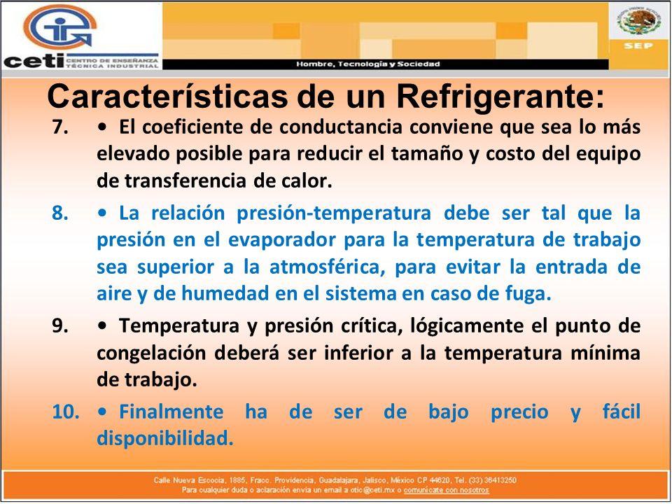 7.El coeficiente de conductancia conviene que sea lo más elevado posible para reducir el tamaño y costo del equipo de transferencia de calor. 8.La rel