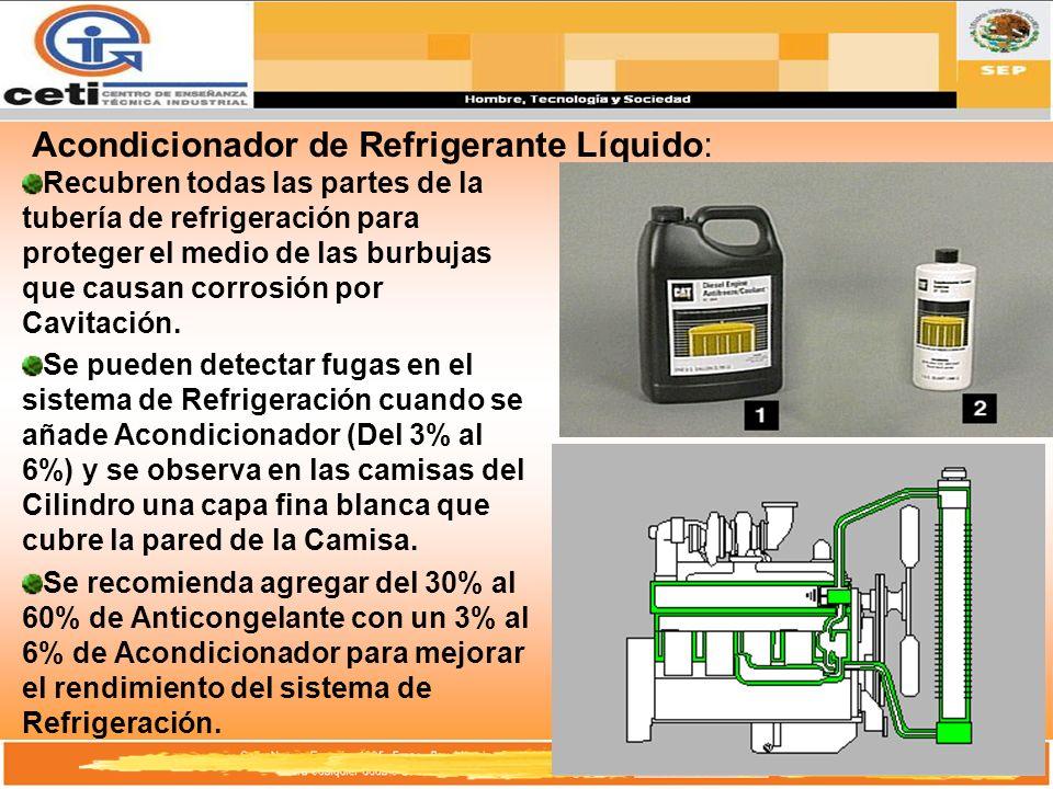 Acondicionador de Refrigerante Líquido: Recubren todas las partes de la tubería de refrigeración para proteger el medio de las burbujas que causan cor