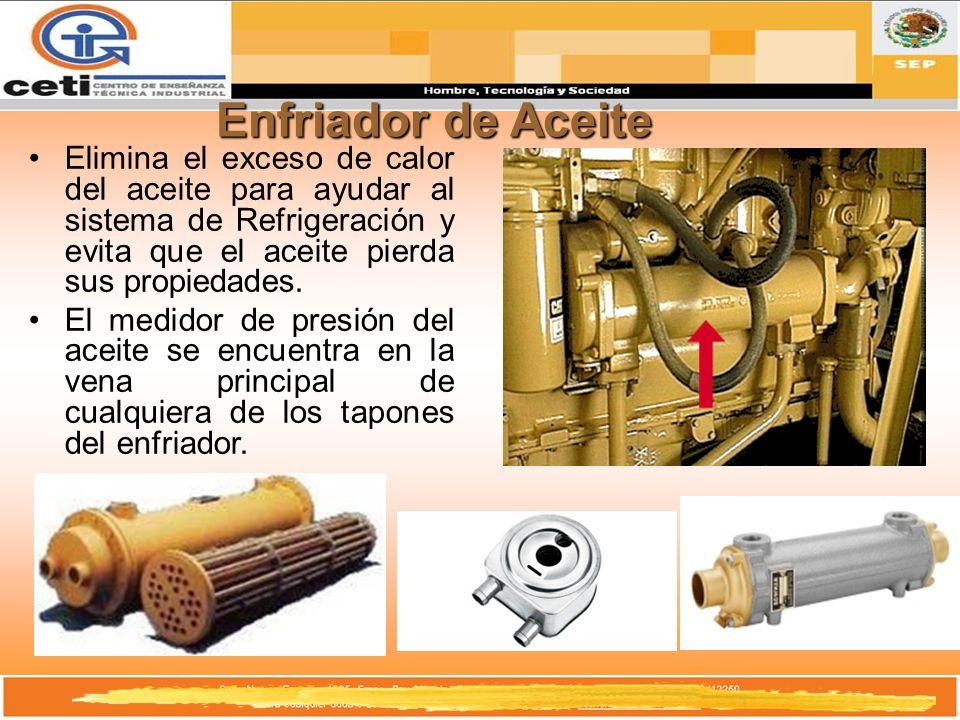 Enfriador de Aceite Elimina el exceso de calor del aceite para ayudar al sistema de Refrigeración y evita que el aceite pierda sus propiedades. El med