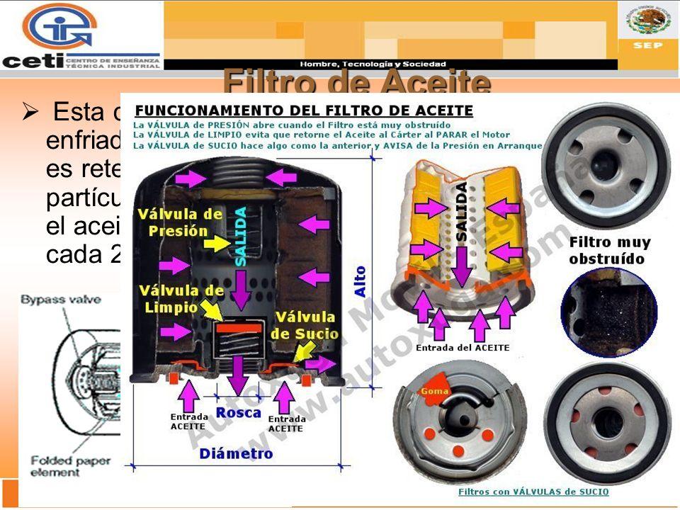 Vena Principal Es un distribuidor general del sistema de lubricación del motor.