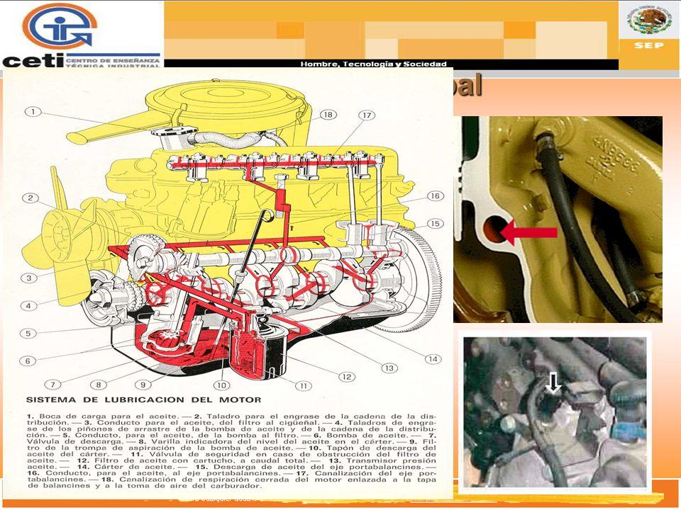 Vena Principal Es un distribuidor general del sistema de lubricación del motor. Canaliza el flujo del Aceite al Block.