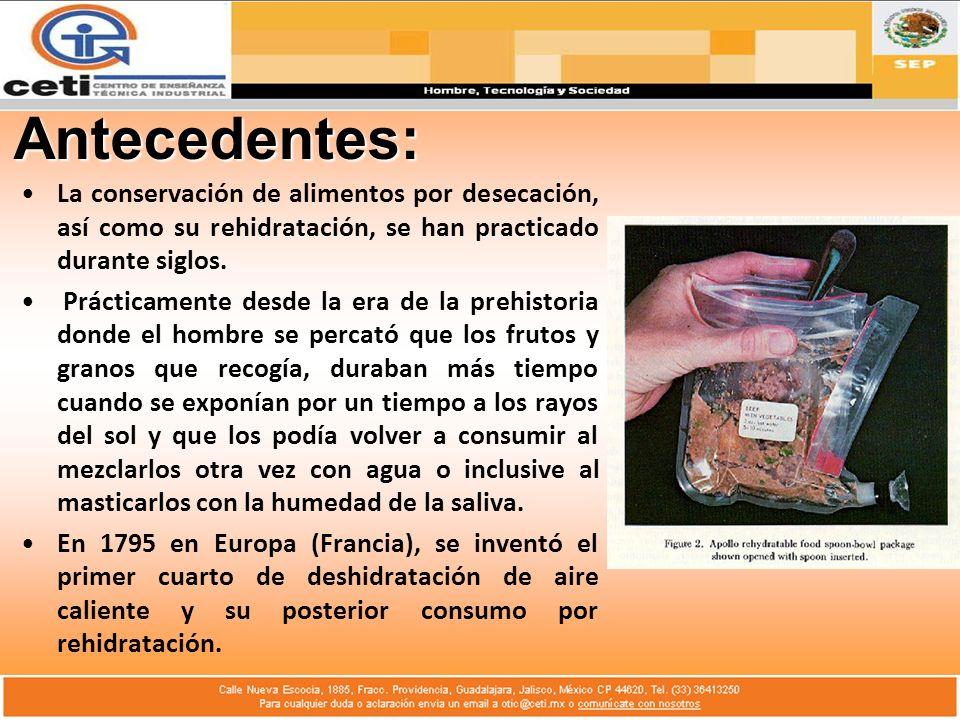 Desarrollo del Tema: 4.- Rehumidificación: Es el método más eficaz para mejorar la reconstitución de los polvos secos.