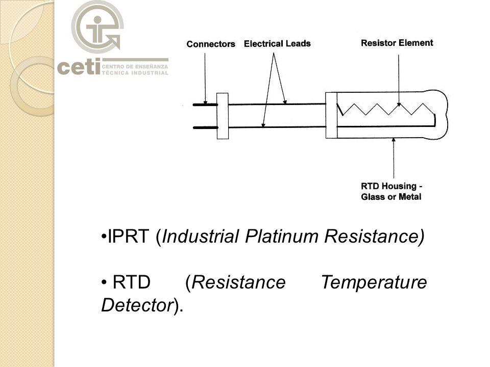 IPRT (Industrial Platinum Resistance) RTD (Resistance Temperature Detector).