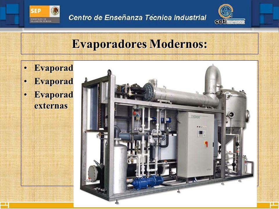 Evaporadores Modernos: Evaporadores al vacíoEvaporadores al vacío Evaporadores por termo compresiónEvaporadores por termo compresión Evaporadores alim