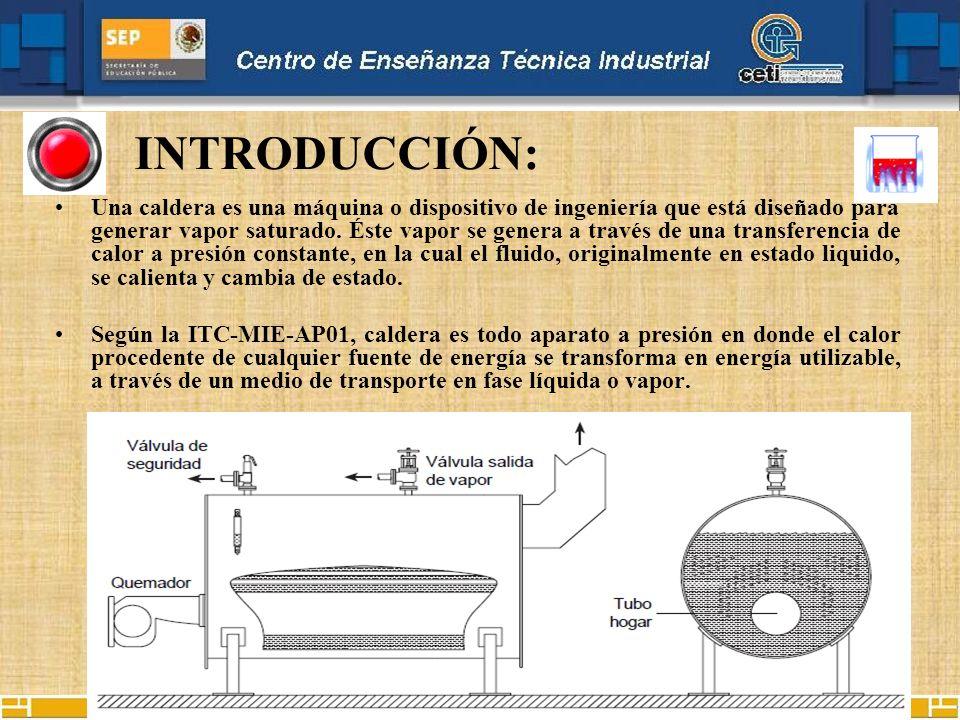Una caldera es una máquina o dispositivo de ingeniería que está diseñado para generar vapor saturado. Éste vapor se genera a través de una transferenc