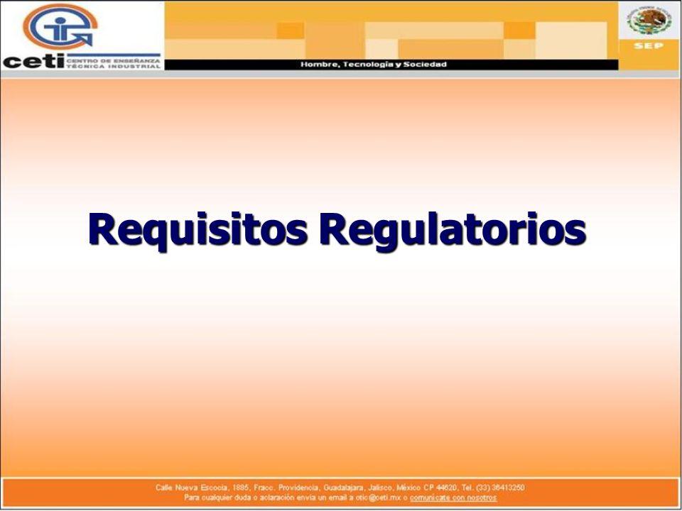 Requisitos Regulatorios
