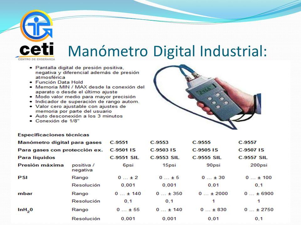 Manómetro Digital Industrial:
