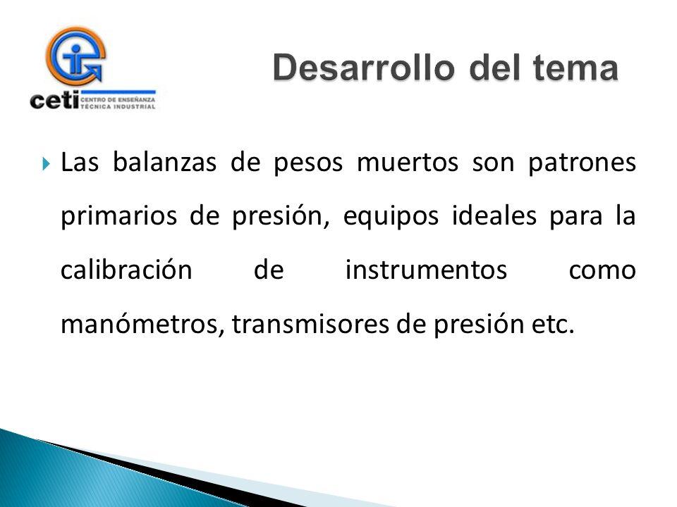 Las balanzas de pesos muertos son patrones primarios de presión, equipos ideales para la calibración de instrumentos como manómetros, transmisores de