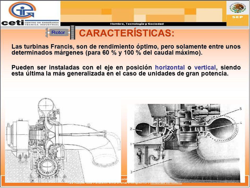 COMPONENTES DE LA TURBINA FRANCIS: La relación de componentes fundamentales, considerando como referencia el sentido de circulación del agua por la turbina, es el siguiente: 1.- Cámara Espiral 1.- Cámara Espiral.