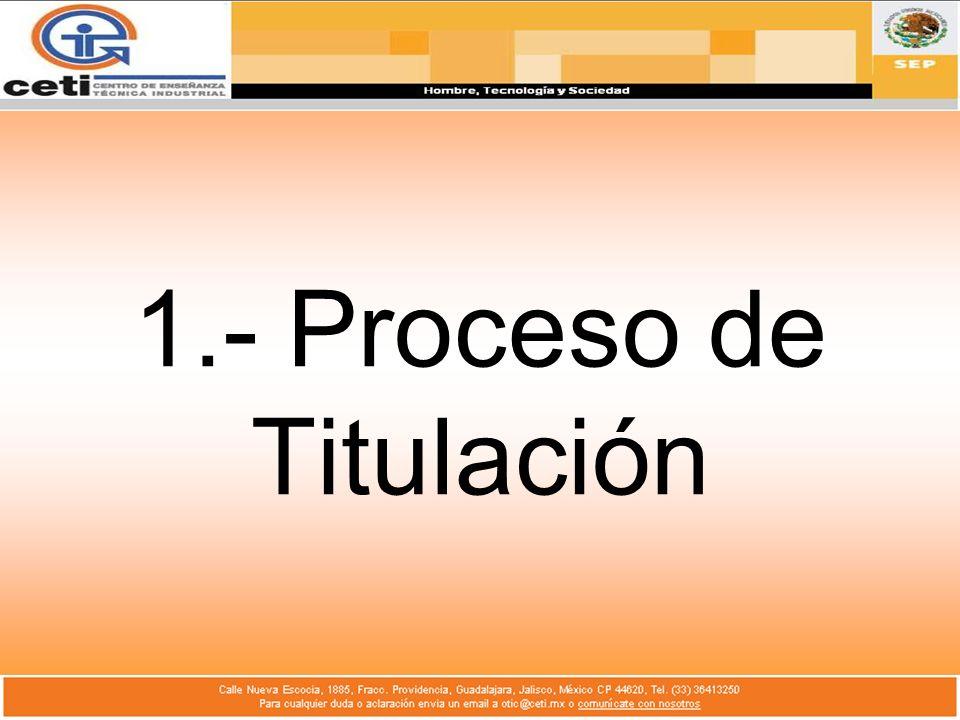 1.- Proceso de Titulación