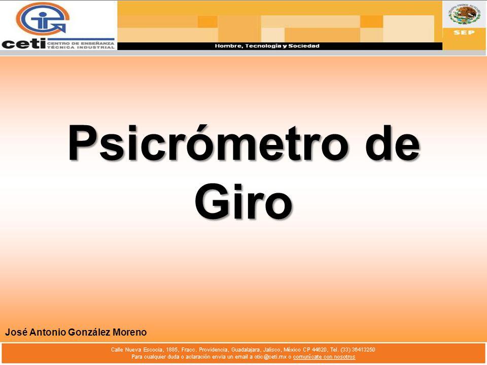Psicrómetro de Giro José Antonio González Moreno