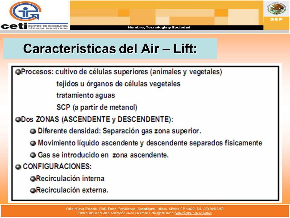 Características del Air – Lift:
