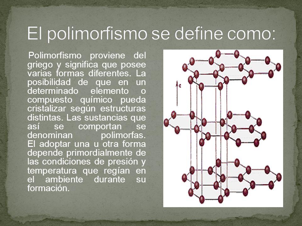Si el cambio en estructura es reversible, entonces el cambio polimórfico se conoce como alotropía.