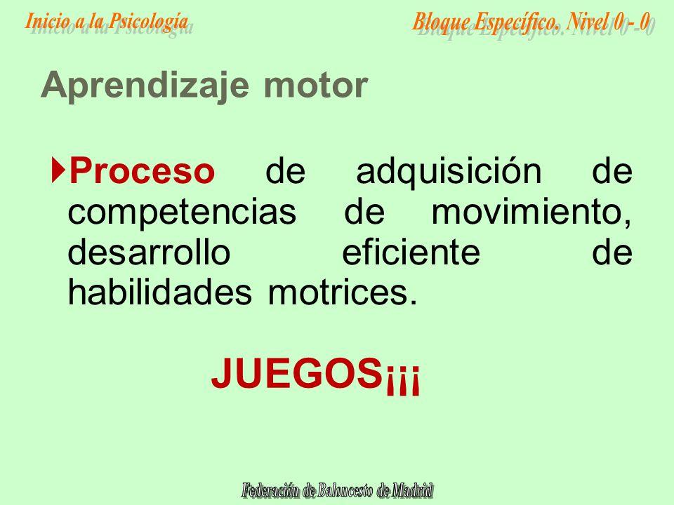 Proceso de adquisición de competencias de movimiento, desarrollo eficiente de habilidades motrices.