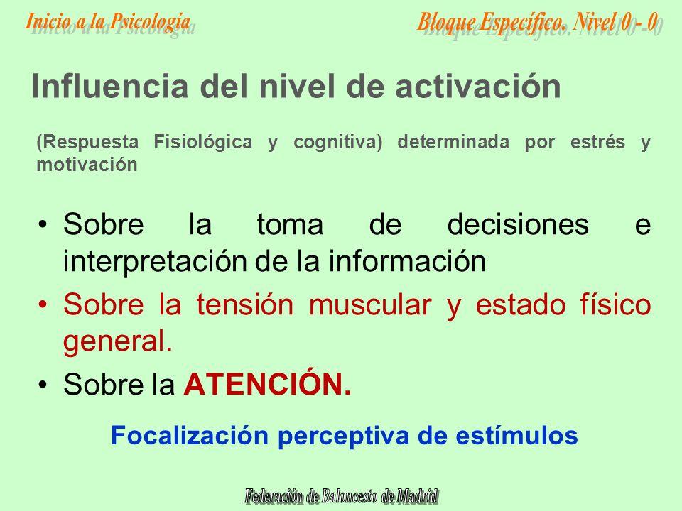 Sobre la toma de decisiones e interpretación de la información Sobre la tensión muscular y estado físico general.