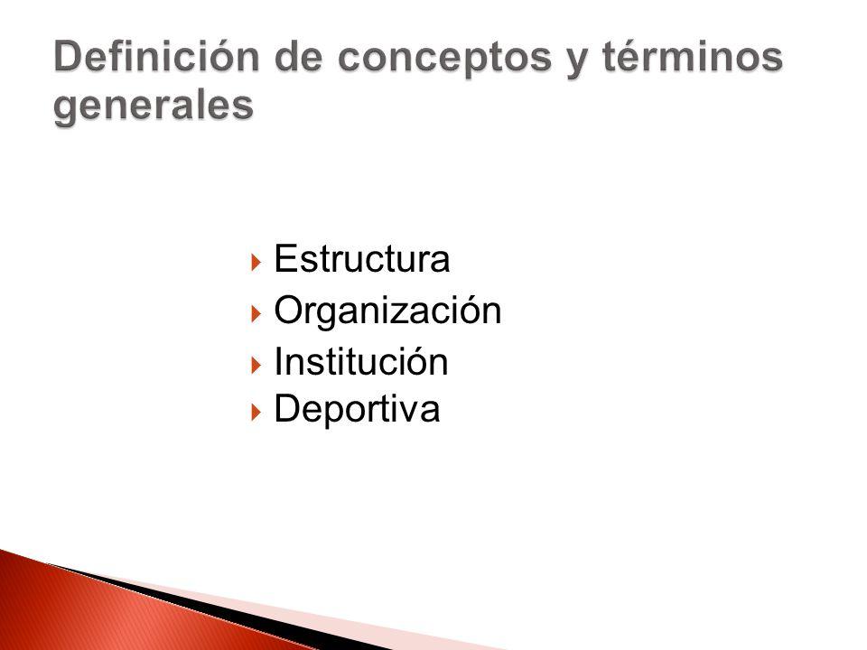 Estructura Organización Institución Deportiva
