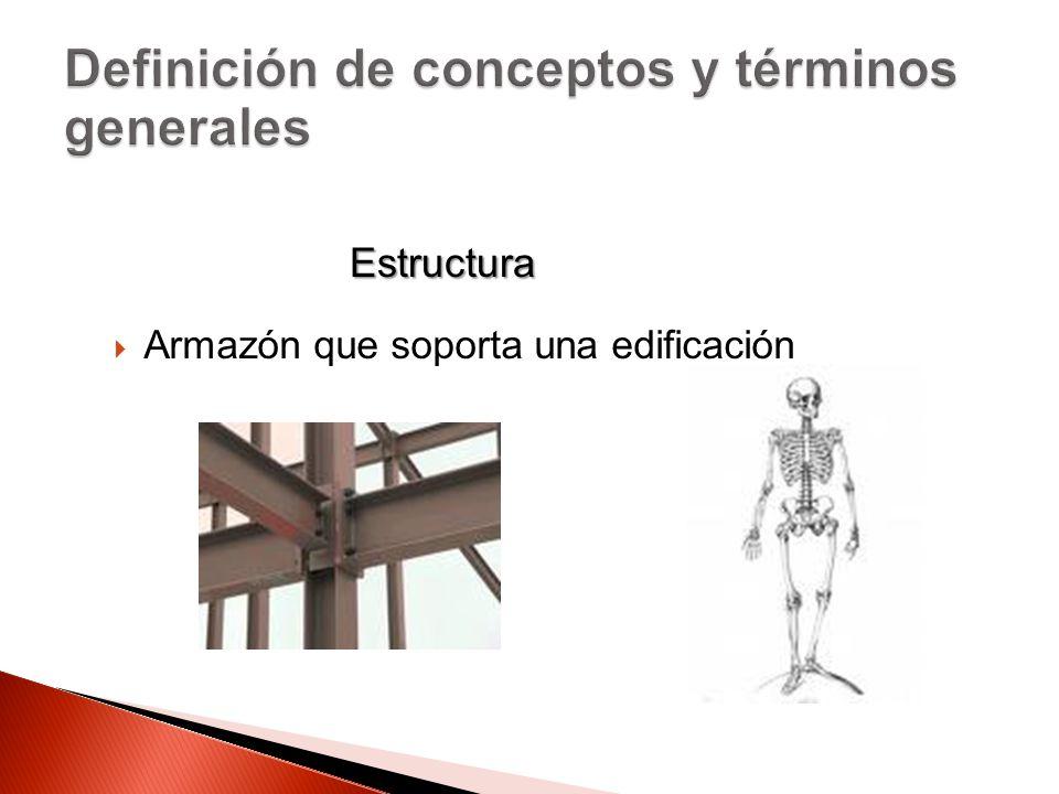Armazón que soporta una edificación Estructura
