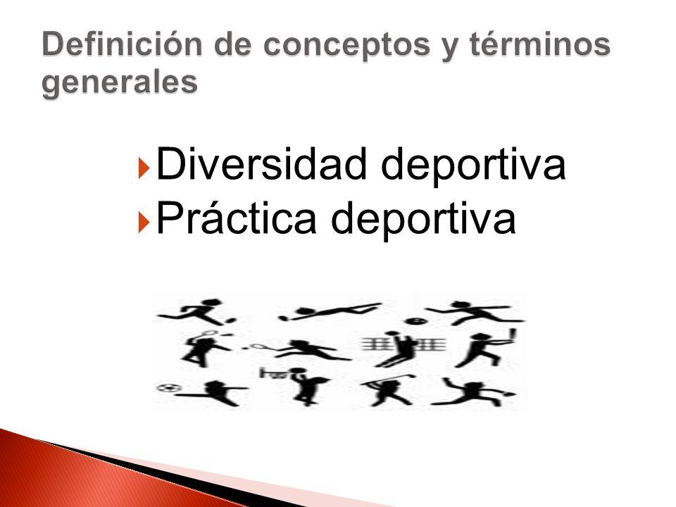 Diversidad deportiva Práctica deportiva