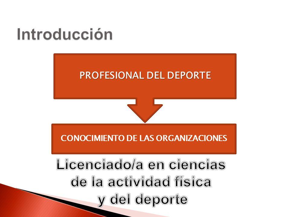 CONOCIMIENTO DE LAS ORGANIZACIONES PROFESIONAL DEL DEPORTE