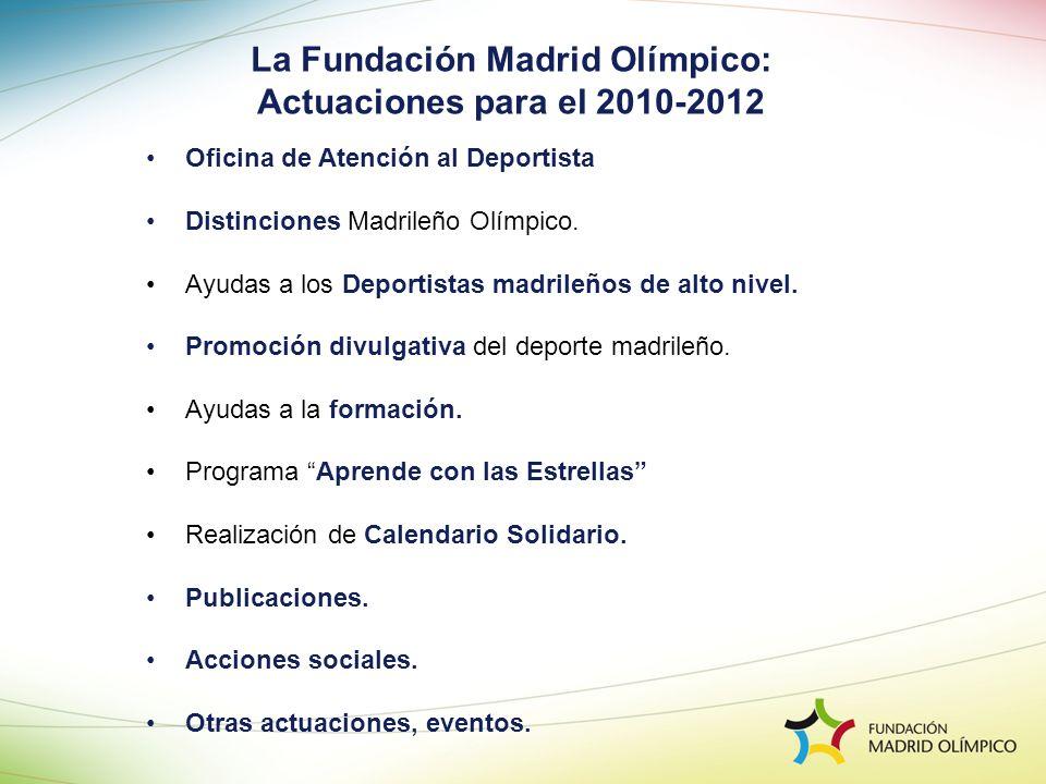 Oficina de Atención al Deportista Distinciones Madrileño Olímpico. Ayudas a los Deportistas madrileños de alto nivel. Promoción divulgativa del deport