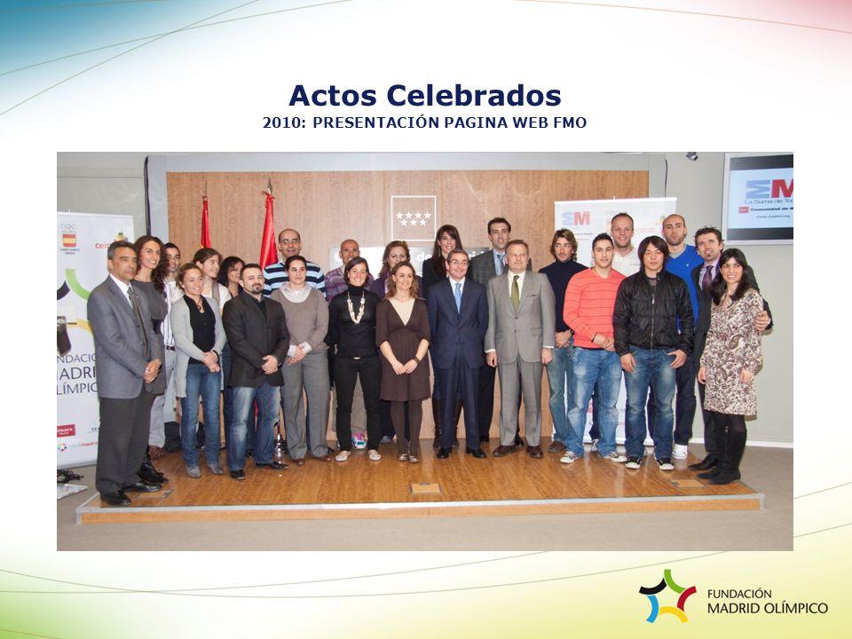 Actos Celebrados 2010: PRESENTACIÓN PAGINA WEB FMO