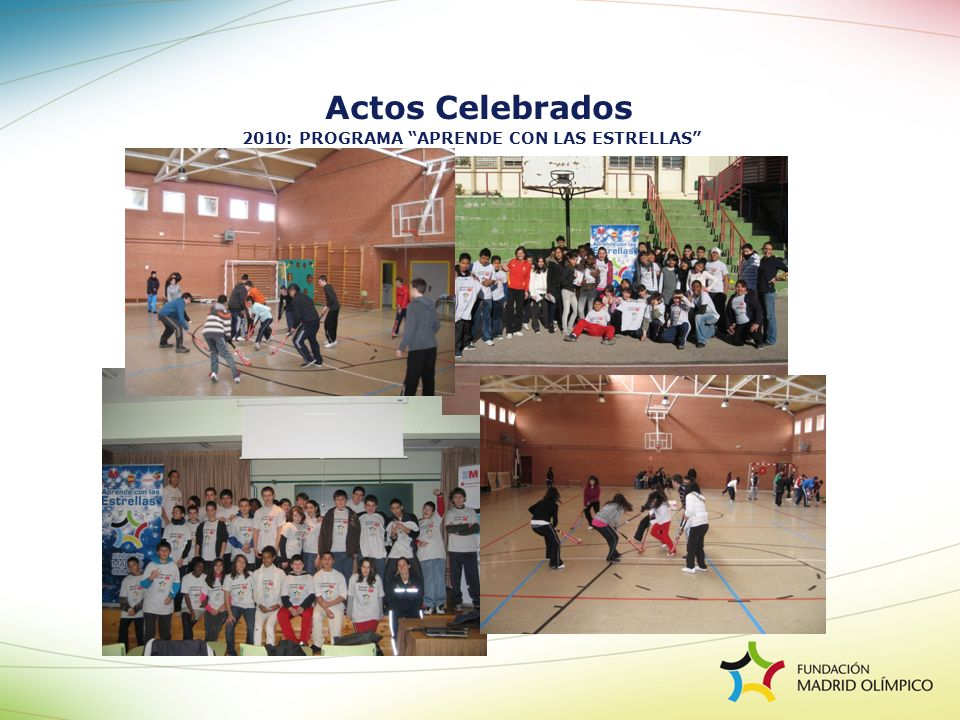 Actos Celebrados 2010: PROGRAMA APRENDE CON LAS ESTRELLAS