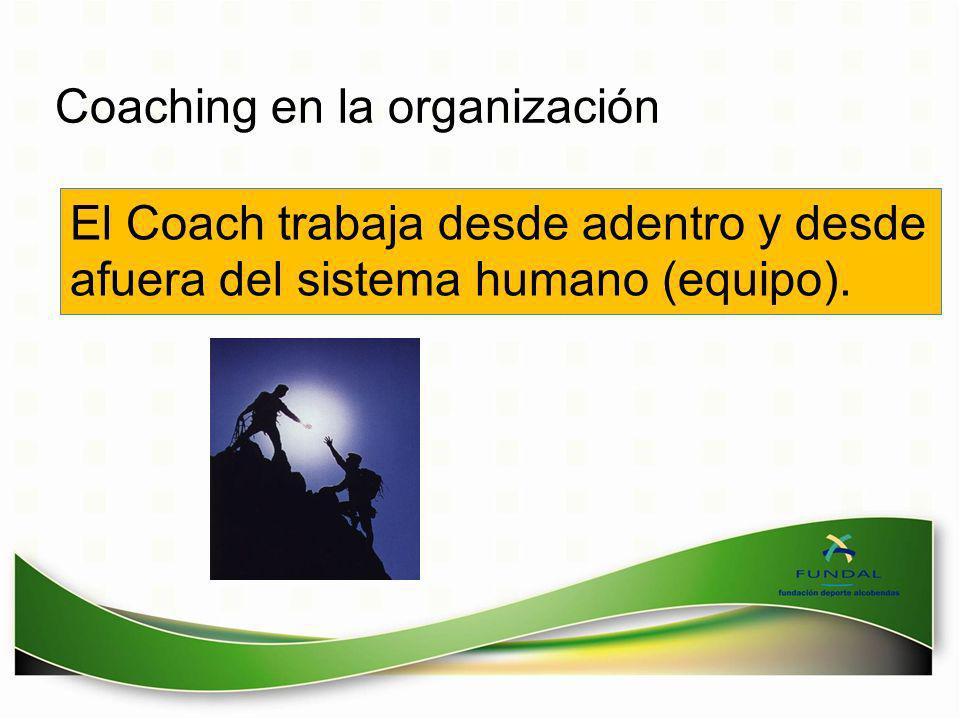 Coaching en la organización El Coach trabaja desde adentro y desde afuera del sistema humano (equipo).