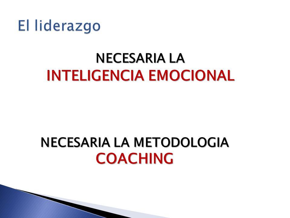 NECESARIA LA INTELIGENCIA EMOCIONAL NECESARIA LA METODOLOGIA COACHING