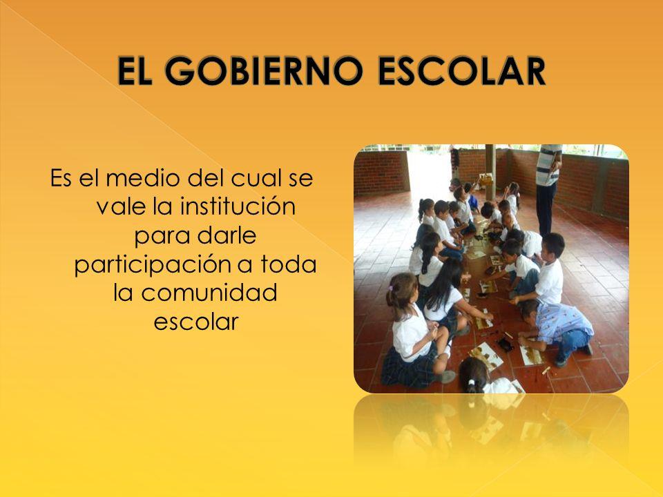 Es el medio del cual se vale la institución para darle participación a toda la comunidad escolar