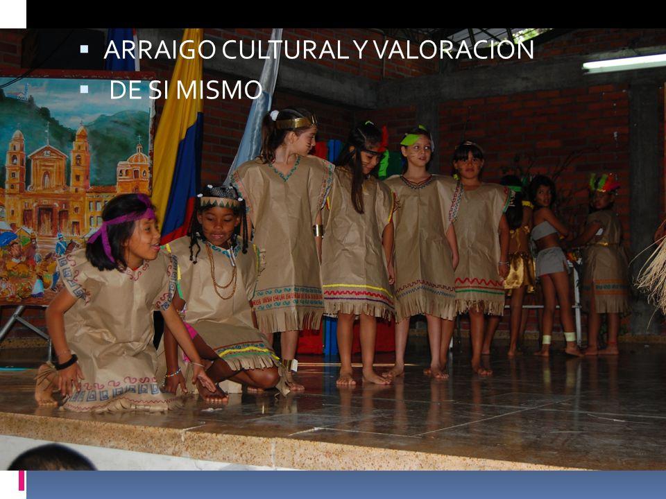 DIFERENTES MANIFESTACIONES DEL LENGUAJE ARRAIGO CULTURAL Y VALORACION DE SI MISMO