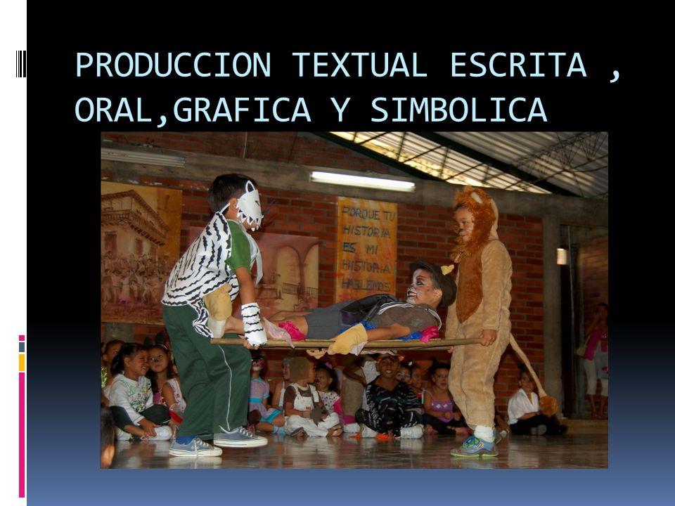 PRODUCCION TEXTUAL ESCRITA, ORAL,GRAFICA Y SIMBOLICA