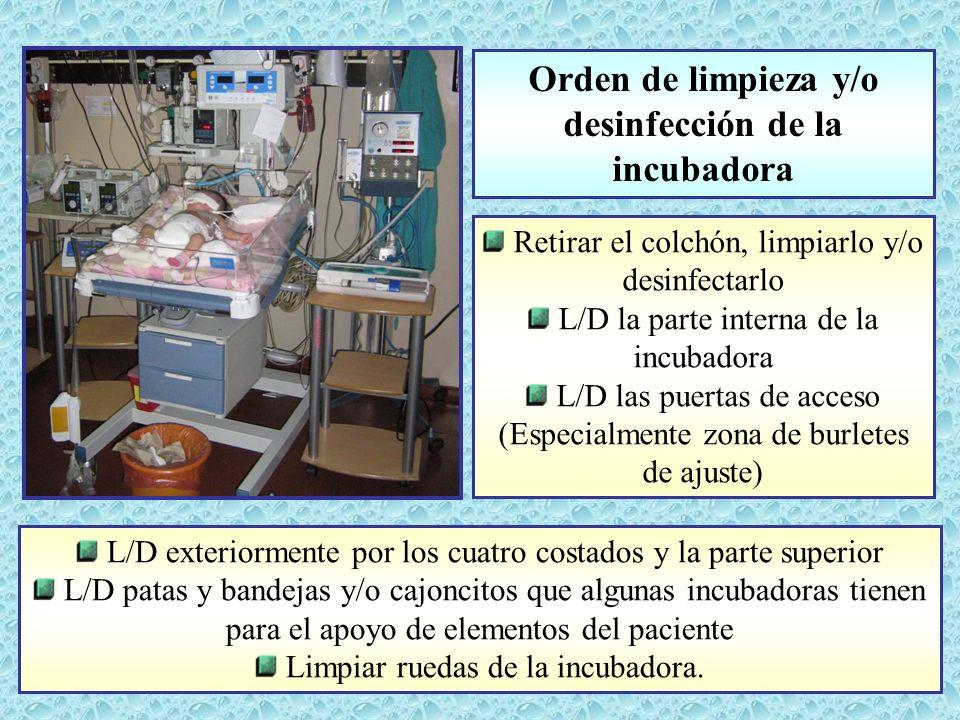 L/D exteriormente por los cuatro costados y la parte superior L/D patas y bandejas y/o cajoncitos que algunas incubadoras tienen para el apoyo de elem