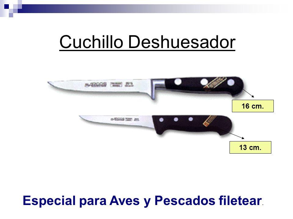 Cuchillo Deshuesador Especial para Aves y Pescados filetear. 16 cm. 13 cm.