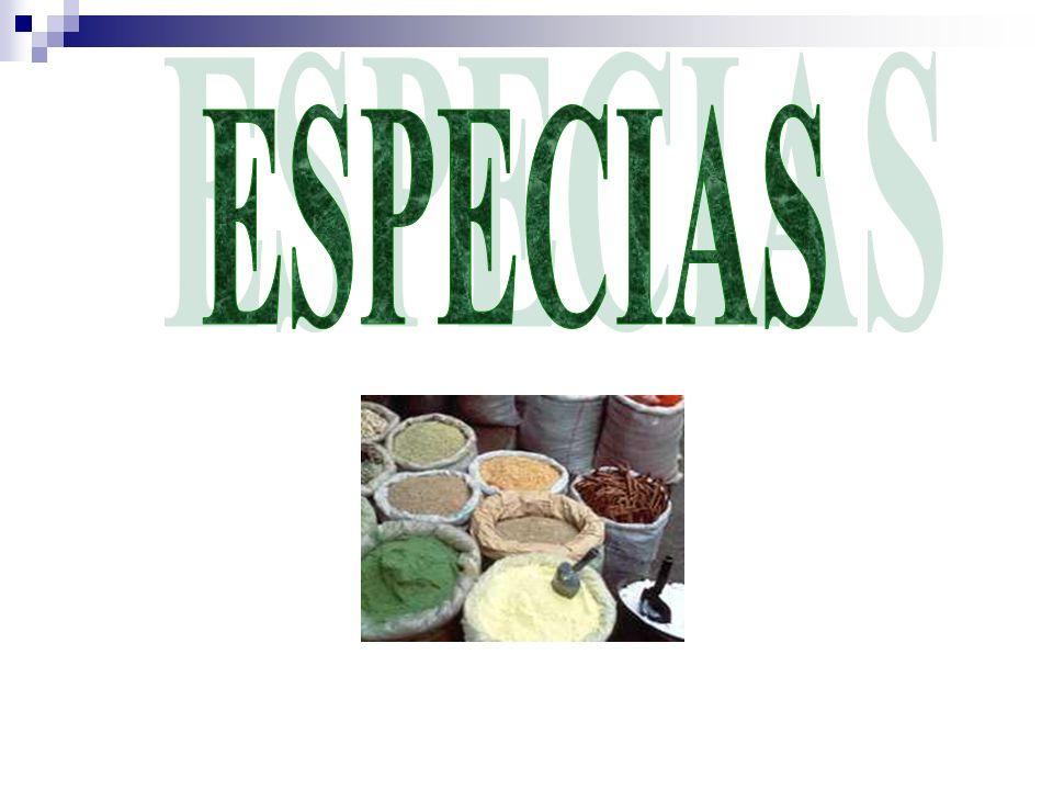 Especia son también llamada condimento, es el nombre dado a ciertos aromatizantes de origen vegetal, que se usan para preservar o sazonar los alimentos.