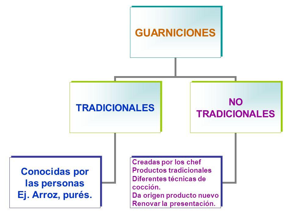 GUARNICIONES TRADICIONALES Conocidas por las personas Ej.