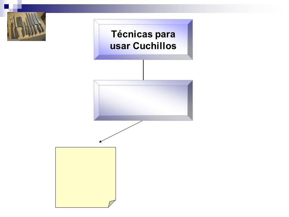 Técnicas para usar Cuchillos